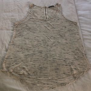 Olivia Moon Cream and Black Tank Top Size Large